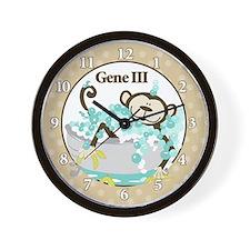 Monkey In Tub Wall Clock - Gene III