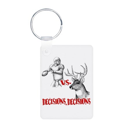 Hunting or Football? Aluminum Photo Keychain