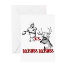 Hunting or Football? Greeting Card