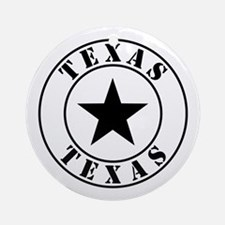 Texas, Lone Star State Ornament (Round)