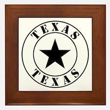 Texas, Lone Star State Framed Tile