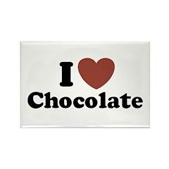 I love Chocolate Rectangle Magnet