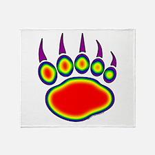Bear Paw Heat Map Throw Blanket