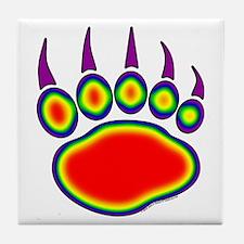 Bear Paw Heat Map Tile Coaster