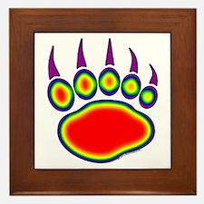 Bear Paw Heat Map Framed Tile