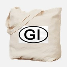 GI - Initial Oval Tote Bag