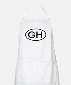 GH - Initial Oval BBQ Apron