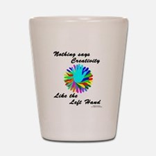 Left Handed Creativity Shot Glass