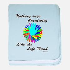 Left Handed Creativity baby blanket