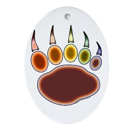 Bear Paw Rainglow Ornament (Oval)