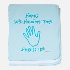 Left Handers' Day baby blanket