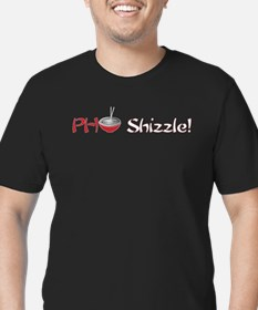 Pho shizzle! Men's Fitted T-Shirt (black)