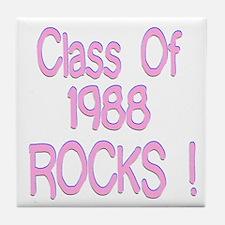 1988 Pink Tile Coaster