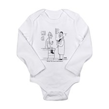 Too Much Info Long Sleeve Infant Bodysuit