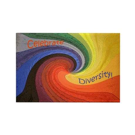 Celebrate Diversity Rectangle Magnet (10 pack)