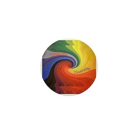 Celebrate Diversity Mini Button (10 Pack)