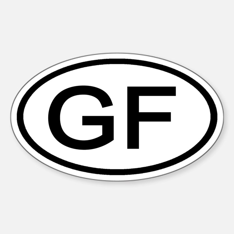 GF - Initial Oval Oval Decal