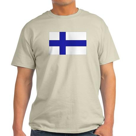 Finnish Flag Ash Grey T-Shirt