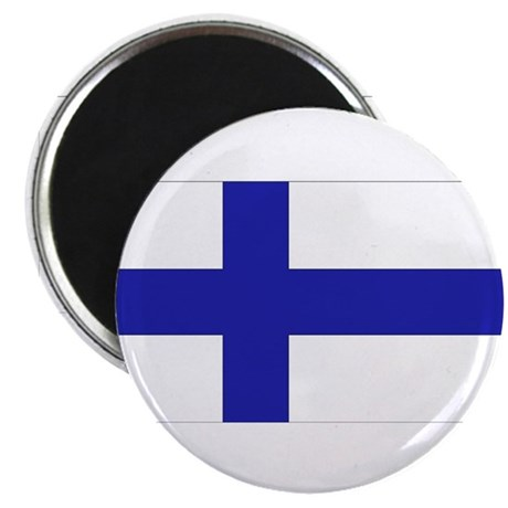 "Finnish Flag 2.25"" Magnet (10 pack)"