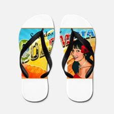 Saludos de Colombia Flip Flops