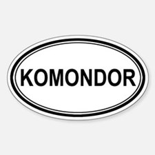 Komondor Euro Oval Decal