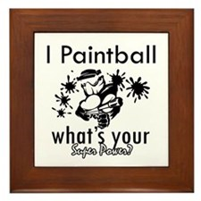 I Paintball Framed Tile