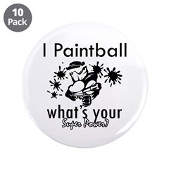 """I Paintball 3.5"""" Button (10 pack)"""