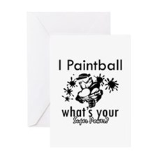 I Paintball Greeting Card