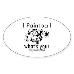 I Paintball Sticker (Oval)