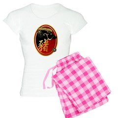 Year Of The Pig-Black Boar Pajamas
