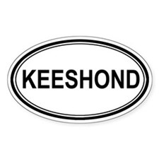 Keeshond Euro Oval Decal