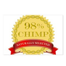 98% Chimp Naturally Selected Postcards (Package of