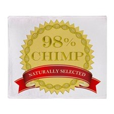 98% Chimp Naturally Selected Throw Blanket