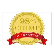 98% Chimp Guaranteed Postcards (Package of 8)