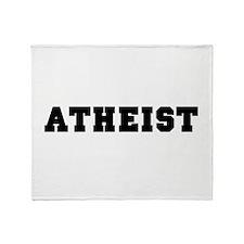 Atheist College Throw Blanket