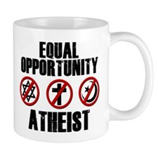 Equal Opportunity Atheist Mug