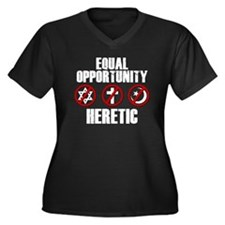 Equal Opportunity Heretic Women's Plus Size V-Neck