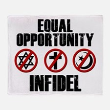 Equal Opportunity Infidel Throw Blanket