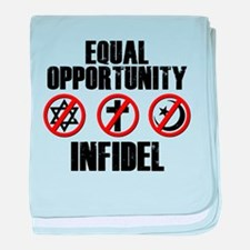 Equal Opportunity Infidel baby blanket
