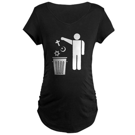 Religion Wastebin Maternity Dark T-Shirt