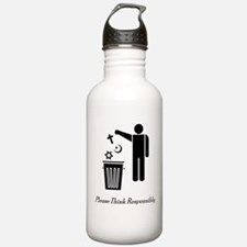 Please Think Responsibly Sports Water Bottle
