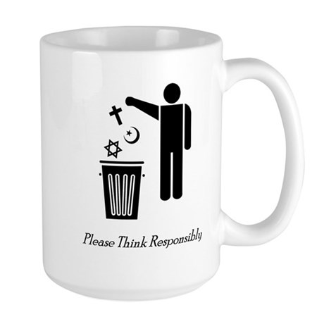Please Think Responsibly Large Mug