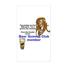 Funny Beer summit Decal