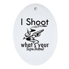 I Shoot Ornament (Oval)