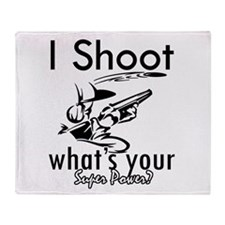 I Shoot Throw Blanket