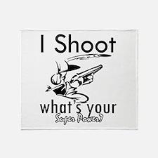I Shoot Throw Blanket