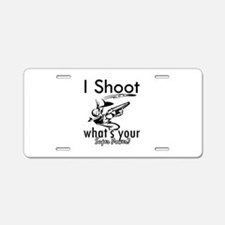 I Shoot Aluminum License Plate