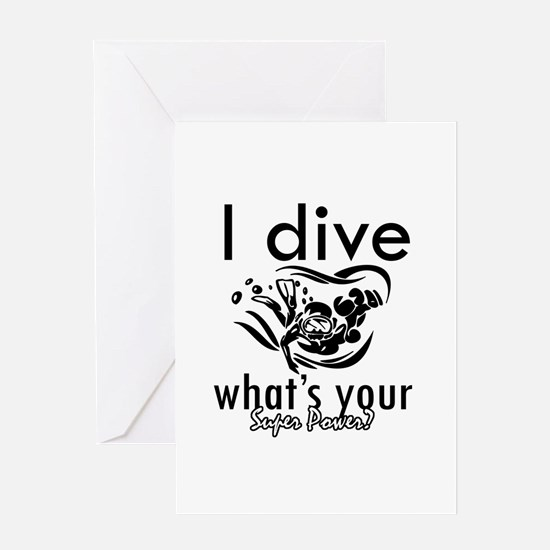 I Scuba dive Greeting Card
