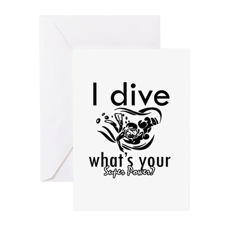 I Scuba dive Greeting Cards (Pk of 20)