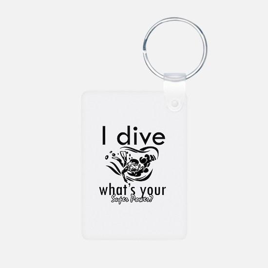 I Scuba dive Keychains